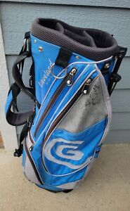 ⛳Cleveland Golf Blue/White 14-Way Top Golf Stand Bag Multiple Pockets‼️