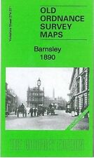 MAP OF BARNSLEY 1890 COLOURED EDITION