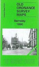 OLD ORDNANCE SURVEY MAP BARNSLEY 1890 COLOURED EDITION
