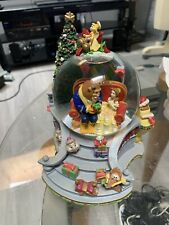 Beauty And The Beast Enchanted I'll Be Home For Christmas Musical Snow-Globe 7x5