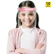 Kids Face Shield Mask, Clear Anti-Fog Safety, Cough Sneeze Protection Visor Pink