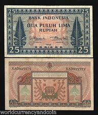 INDONESIA 25 RUPIAH P44 1952 *REPLACEMENT* RARE CURRENCY MONEY BILL BANK NOTE