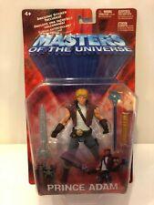 "Masters Of The Universe MOTU Prince Adam 6"" Action Figure Mattel 2002 New"