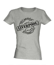MADE IN LIVERPOOL LADIES T-SHIRT GIFT CHRISTMAS BIRTHDAY 18TH 30TH 40TH 50TH