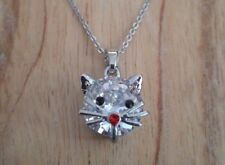 Kitty Kitten Cat Necklace - Cute Cheeky Kitty Cat Face Jewellery - Ideal Gift