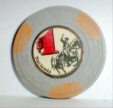 $1.00 Chip Hacienda Casino Las Vegas Nevada 1956-1996 Plus info + Casino History