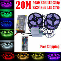 5-20M RGB 3528 5050 SMD waterproof LED Strip Flexible Lamp /IR Remote /12V power