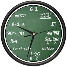 MATH CLASS Wall Clock arithmetic teacher classroom gift
