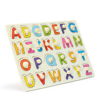 Alphabet ABC Wood Jigsaw Puzzle Toy Children Kid Learning Study Educational Gift