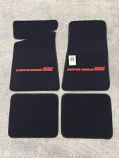 Carpeted Floor Mats - Small Red-Orange Monte Carlo SS on Black Mats