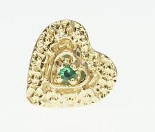 14K Yellow Gold Richard Glatter RGVS Slide Bracelet Charm GS171 Emerald Heart