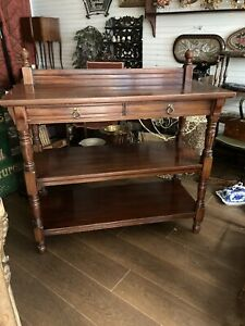 Antique Solid Mahogany Gillows Of Lancaster Buffet, Sideboard, Shelving