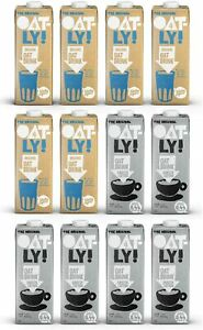 OATLY Oat Drink Barista Edition 1 Litre + Organic 1 Litre (Pack of 12)