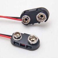 9V Batterie Clip Anschluss mit 14cm Anschlusskabel, I-Form