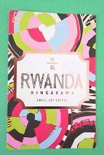 STARBUCKS 2016 - Series Reserve Tasting Card RWANDA HINGAKAWA - NEW (ID#34)