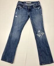 Hollister Womens Jeans Wide Leg Low Rise Destroyed Medium Tag 1R Actual Sz 27x31