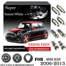 11x For Mini R56 2006-2013 Xenon White 6000K Car Interior LED Light Package Kit