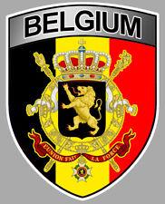 STICKER AUTOCOLLANT BLASON BELGIUM BELGIQUE ARMOIRIES AUTO MOTO 10X8CM BA238