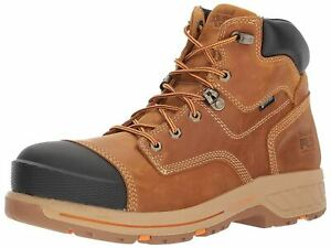 """Timberland PRO Men's Helix HD 6"""" Composite Toe WP A1HPY Wheat Leather Work Boot"""