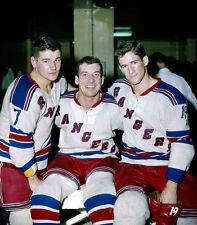 Rod Gilbert,Camille Henry,Jean Ratelle New York Rangers 8x10 Photo