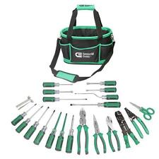 22-Piece Electrician's Tool Set Electrical Kit Tools Bag Pouch Wire Strippers
