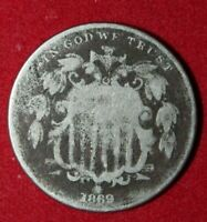 Available is an 1869 Shield Nickel (5 Cents).