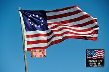 BETSY ROSS American 3x5 Heavy Duty In/outdoor Super-Poly FLAG BANNER*USA MADE