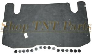 """1982-1992 Ford Ranger Hood Insulation Pad & Mounting Clips 1/2"""" Black Heat"""