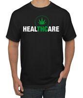 HealTHCare Funny THC Medical Cannabis Pun Mens T-Shirt