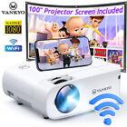 VANKYO Leisure 480W 8000LM Native 1080P Wireless WiFi Projector 4K Home Cinema