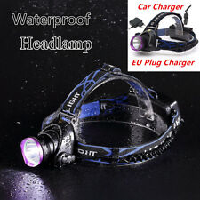 T6 LED Headlamp Head-mounted Light Zoomable Lamp + EU Charger Kit 50000LM 3 Mode