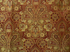 Drapery Upholstery Fabric Traditional Woven Floral/Paisley Jacquard - Brick Red