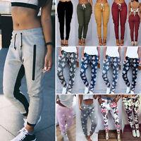 Damen Sports Freizeit Hose Fitness Jogginghose Fitnss Sweatpants Traininghose DE