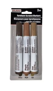 Tool Bench Hardware Furniture Scratch Markers Pack of 3~ Cherry, Oak, Maple