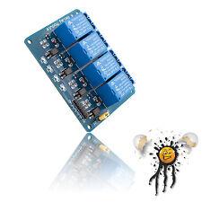 4 Kanal Channel Relais Modul 5V 10A 250V AC 30V DC Optokoppler Arduino ESP IoT
