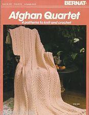 Afghan Quartet Knit & Crochet Instruction Pattern Book Bernat #633