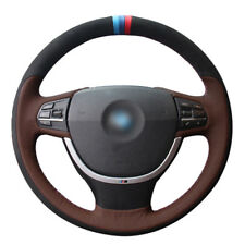 Top Leather Steering Wheel Hand-stitch on Wrap Cover For BMW F10 523 525 750 740