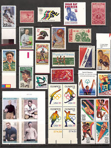 31 Mint Sports Stamps! Inc.Baseball/Football/Basketball/Boxing SUPER COLLECTION!