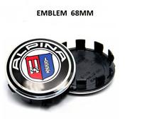 4 x 68mm Emblem ALPINA Logo auto Radmitte Radkappen Auto Emblem-Silber cap