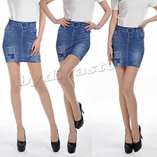 SeXy Minirock Jeans Used Look Stretchrock Damen Rock Destroyed XS S M 32 34 36