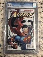 The new 52 Superman Action Comics 2 cgc 9.8