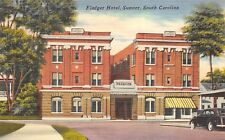 Sumpter South Carolina 1940s Postcard Fladger Hotel