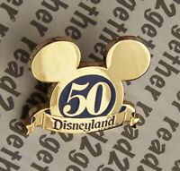Disney Pin DLR Cast Exclusive 50th Anniversary Mickey Ears