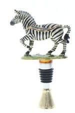 Ciel Jeweled Wine Bottle Stopper Cork Collectible Trinket Box with Stand Zebra