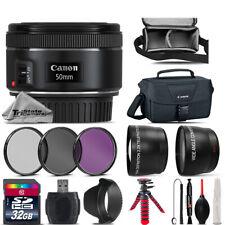 Canon EF 50mm f 1.8 STM Lens + UV CPL FLD Filter - for EOS Rebel T5, T5i Camera