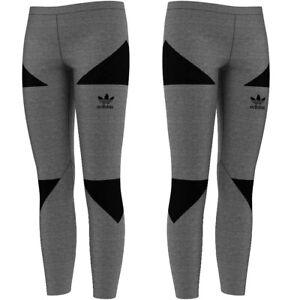 Adidas Trefoil Leggings Women Training Trousers Firebird Long Tight S M Grey