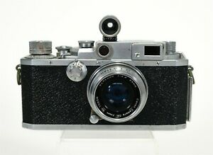 Vintage 1952-55 Canon IVSB Camera #120840 SERENAR Lens 35mm f:2.8 #10256 w/ Cap