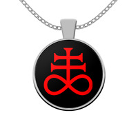 Esoteric necklace - Leviathan Cross satanic symbol - Occult 666 satanism LaVey