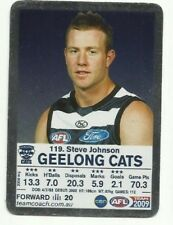 2009 AFL TEAMCOACH SILVER GEELONG STEVE JOHNSON #119 CARD MAGIC MOMENT ?