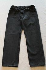 """USA Made Levi's 501 Black Jeans Tag-38""""x32"""" Actual-36""""x30.5"""" Faded to Dark Gray"""